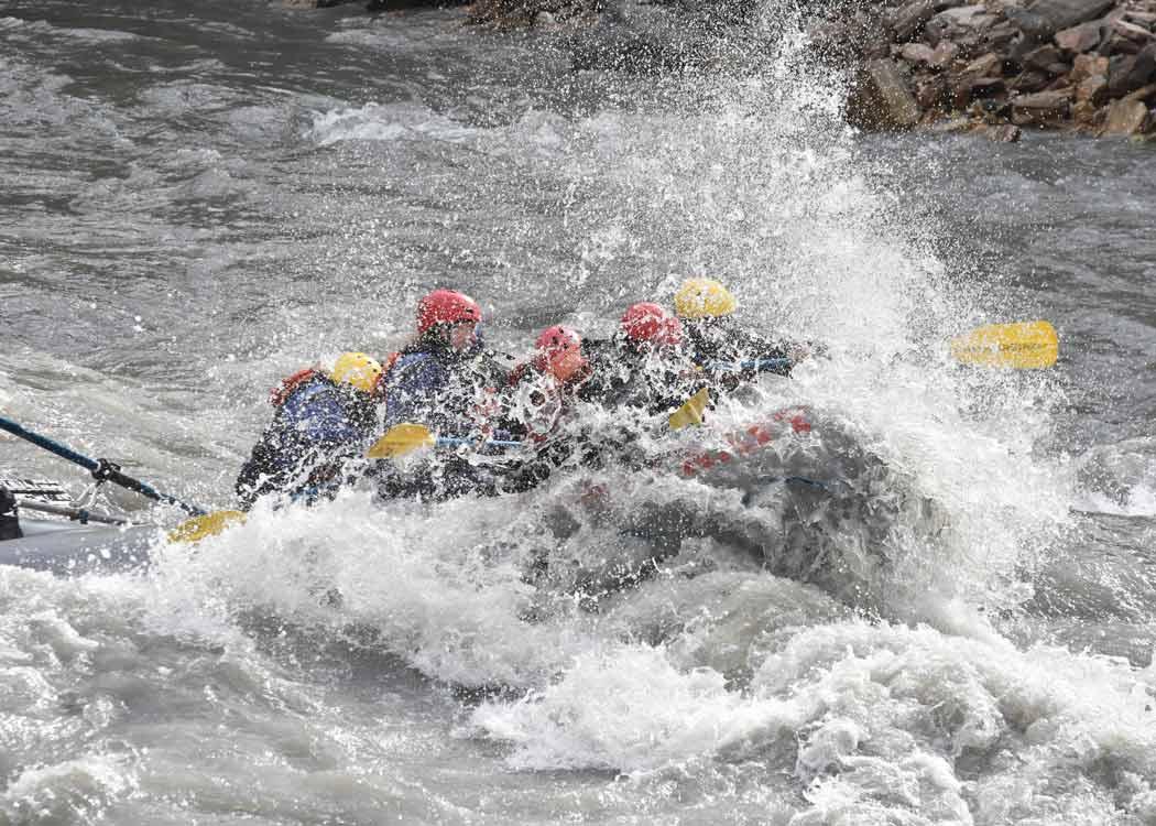 Canyon Whitewater Run Rafting with Alaska Shore Tours