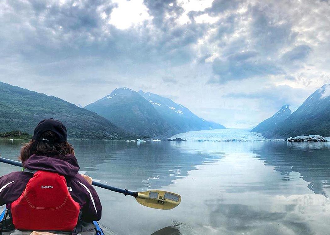 Glacier Blue Kayak & Grandview Train Tour with Alaska Shore Tours